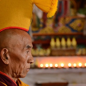 Senior Monk in Tawang Monastery
