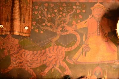 Motif of Guru Padmasamhava in a Monpa House