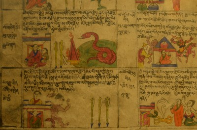 Old Pictoral Story in Tawang Monastery Mueseum